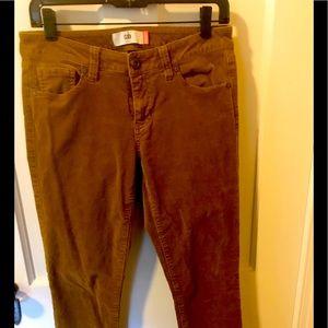 """CAbi Corduroy Skinny Jean size 6 in """"Umber"""""""